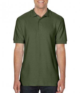 military green premium cotton polo shirt