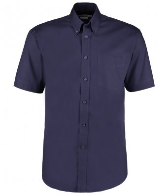 minight navy oxford short sleeve shirt