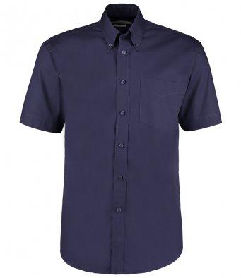 minight navy oxford short sleeve shirt