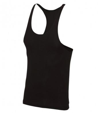 muscle vest jet black