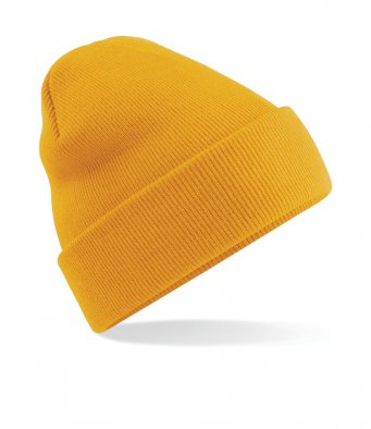 mustard cuffed beanie