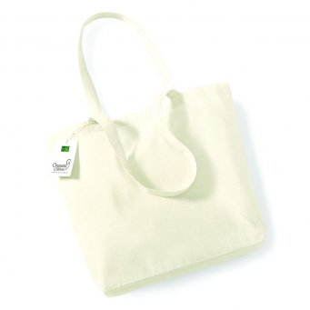 natural organic cotton shopper tote bag