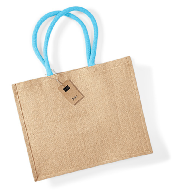 natural surfblue jute shopping bag