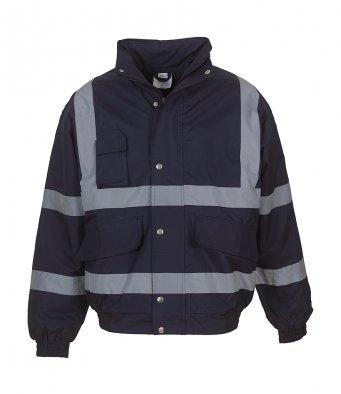 navy hi vis bomber jacket