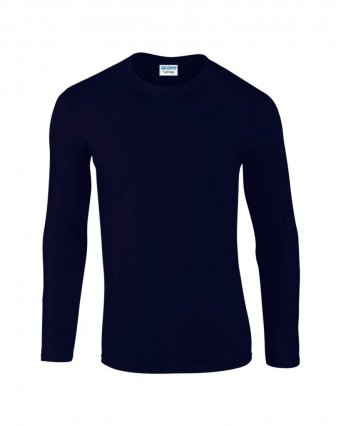 navy long sleeve cotton t shirt
