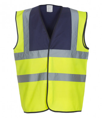 navy yellow hi vis vest