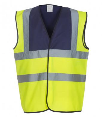 navy yellow hi vis vest