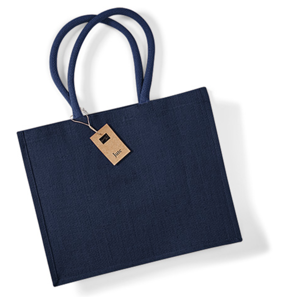 navynavy jute shopping bag
