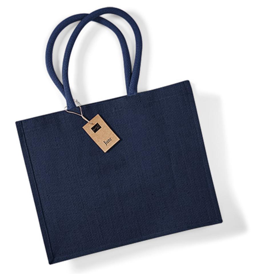 navynavy jute shopping bag