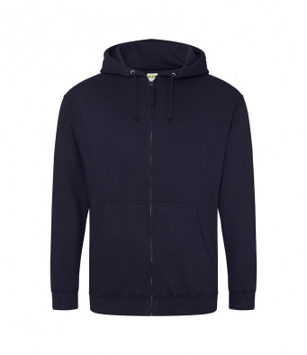 new french navy zipped hoodie