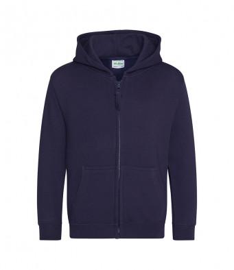 newfrenchnavy childrens zipped hoodie