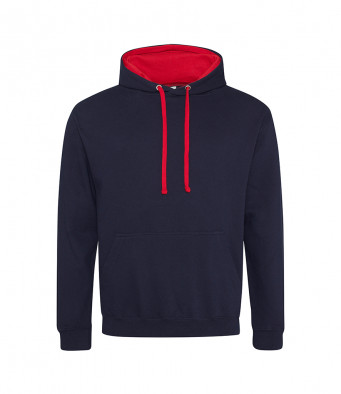newfrenchnavy firered contrast hoodies