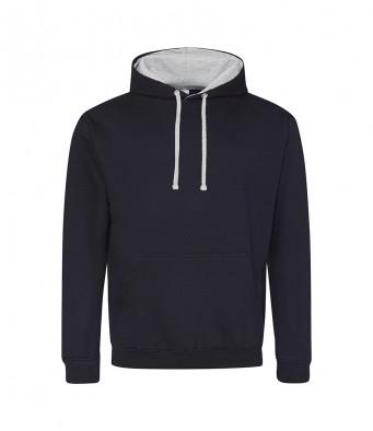 newfrenchnavy heathergrey contrast hoodies