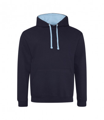 newfrenchnavy skyblue contrast hoodies