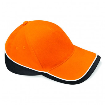 orange black white teamwear caps