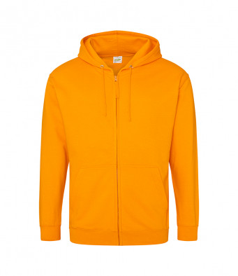 orange crush zipped hoodie