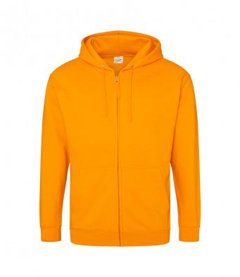 orange crush zipped hoodie