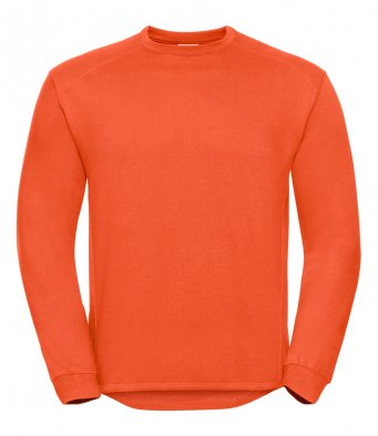 orange heavyweight sweatshirt