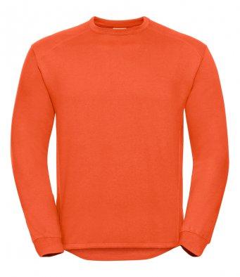orange heavyweight sweatshirt