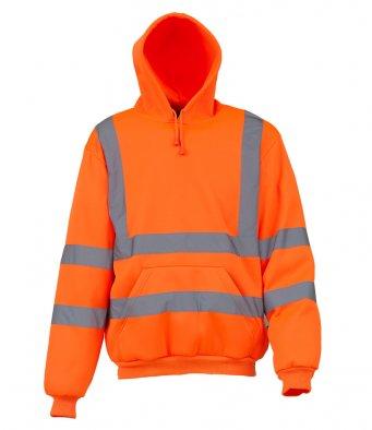 orange hi vis hoodie