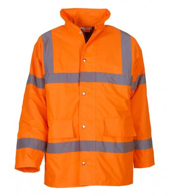 orange hi vis motorway jacket