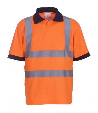 orange hi vis polo shirt