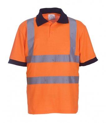 orange hi vis polo shirt