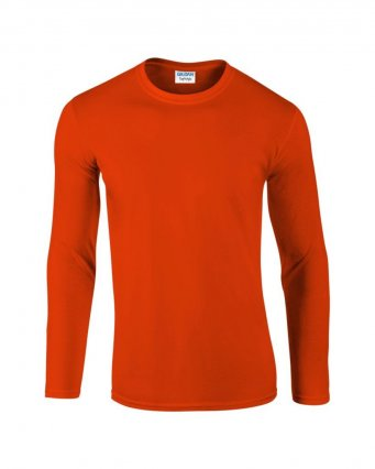 orange long sleeve cotton t shirt