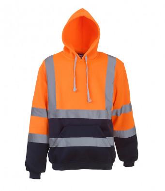 orange navy hi vis hoodie