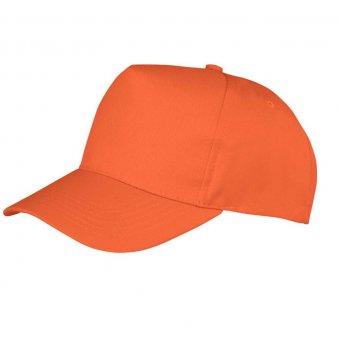 orange promotional caps