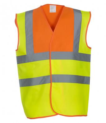 orange yellow hi vis vest