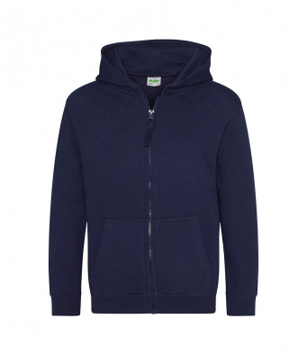 oxford navy childrens zipped hoodie