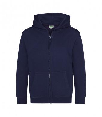 oxford navy childrens zipped hoodie