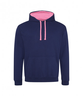 oxfordnavy candyflosspink contrast hoodies