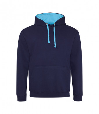 oxfordnavy hawaiianblue contrast hoodies