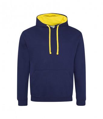 oxfordnavy sunyellow contrast hoodies