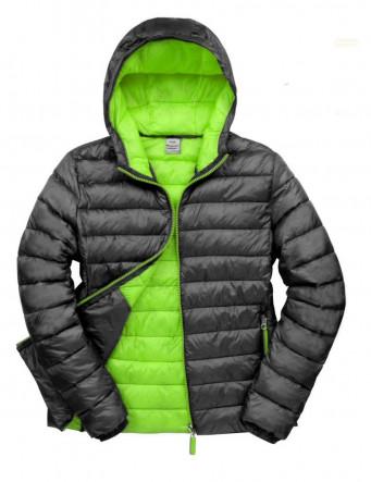 padded work jacket black lime