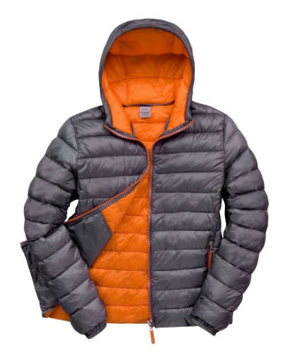 padded work jacket grey orange