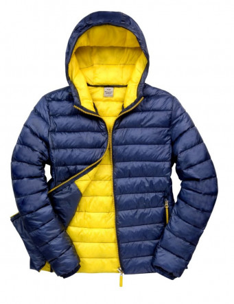 padded work jacket navy yellow