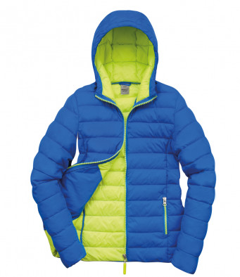 padded work jacket oceanblue lime