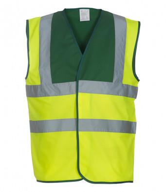 paramedic green yellow hi vis vest