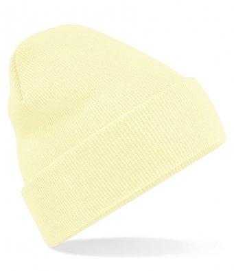 pastel lemon cuffed beanie