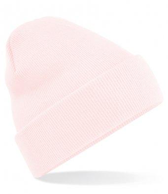 pastel pink cuffed beanie