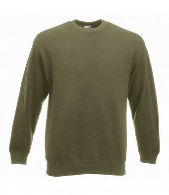 premium classic olive sweatshirt