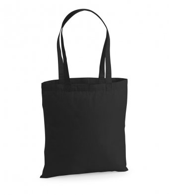 premium cotton black tote bag