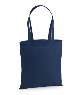 premium cotton french navy tote bag