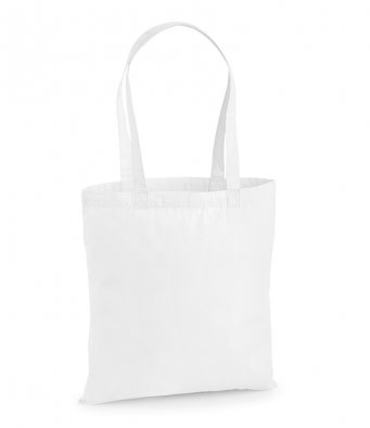 premium cotton white tote bag