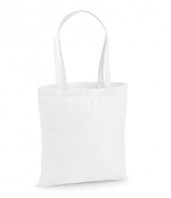 premium cotton white tote bag