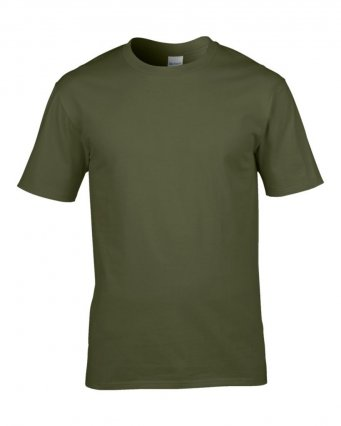 premium military green cotton t shirt