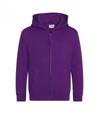 purple childrens zipped hoodie
